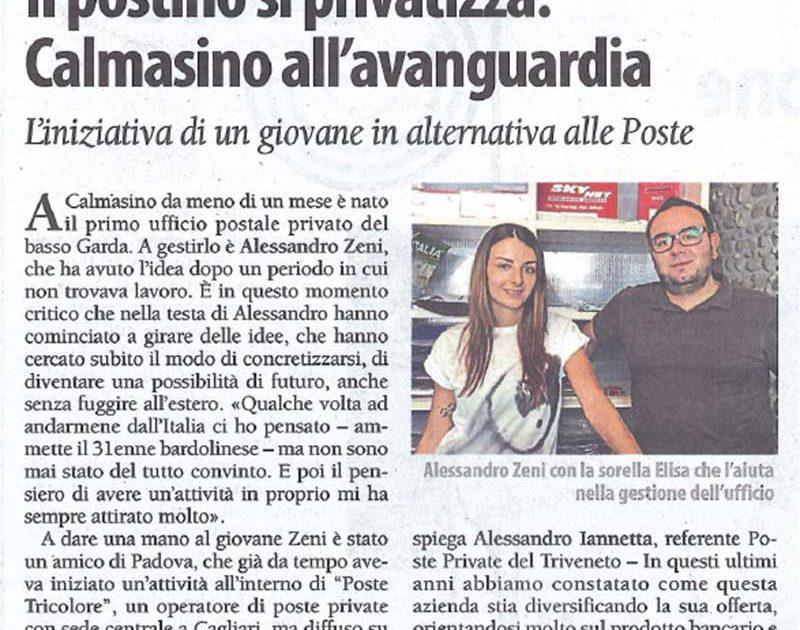Articolo giornale Verona Fedele post4you