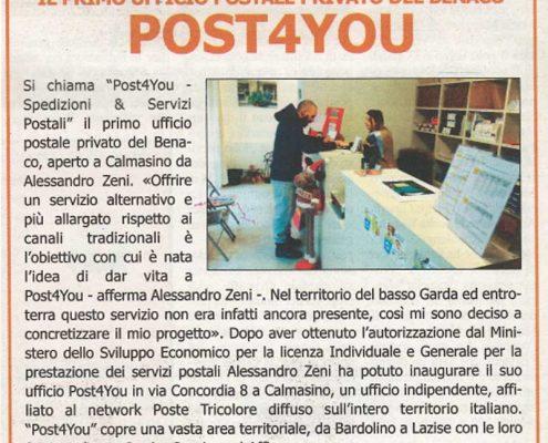 post4you articolo giornale L'Altro Giornale